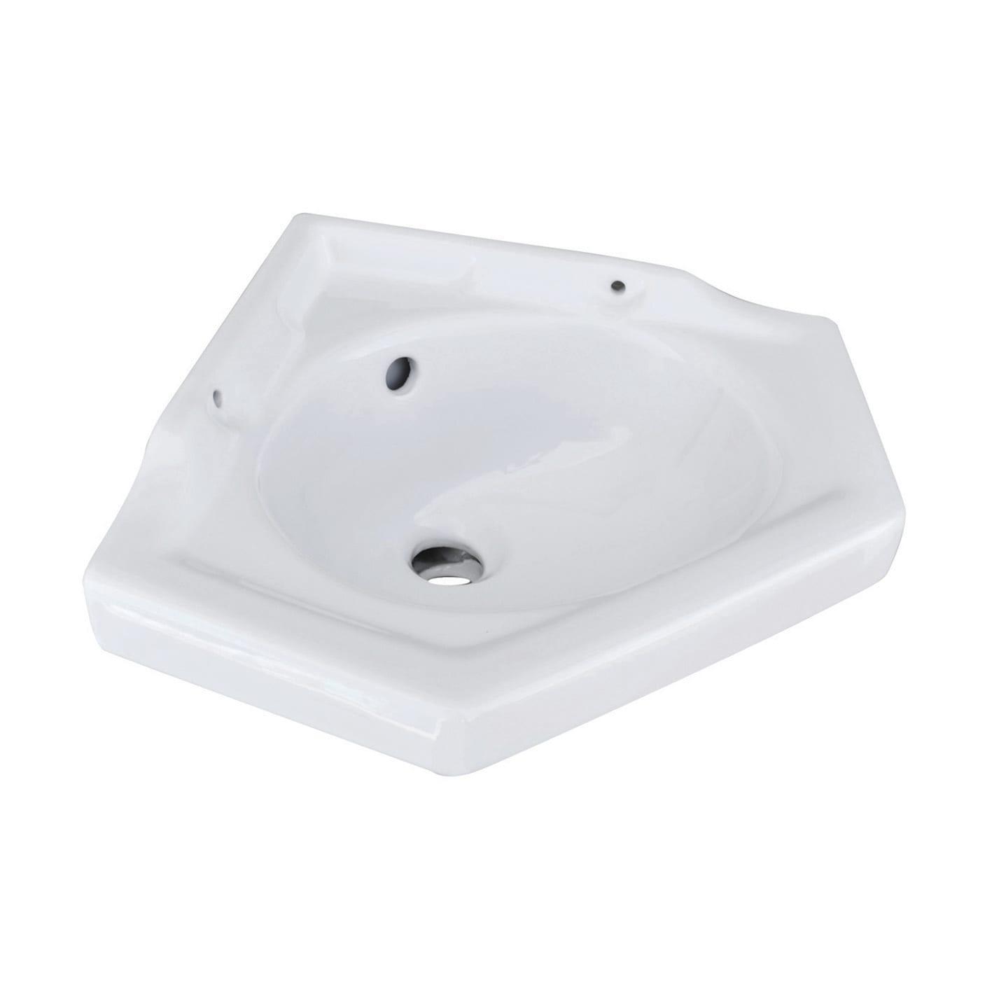 Specchio Per Lavandino Angolare lavabo ad angolo 36x36 angolare l 51 x p 42 cm in ceramica bianco