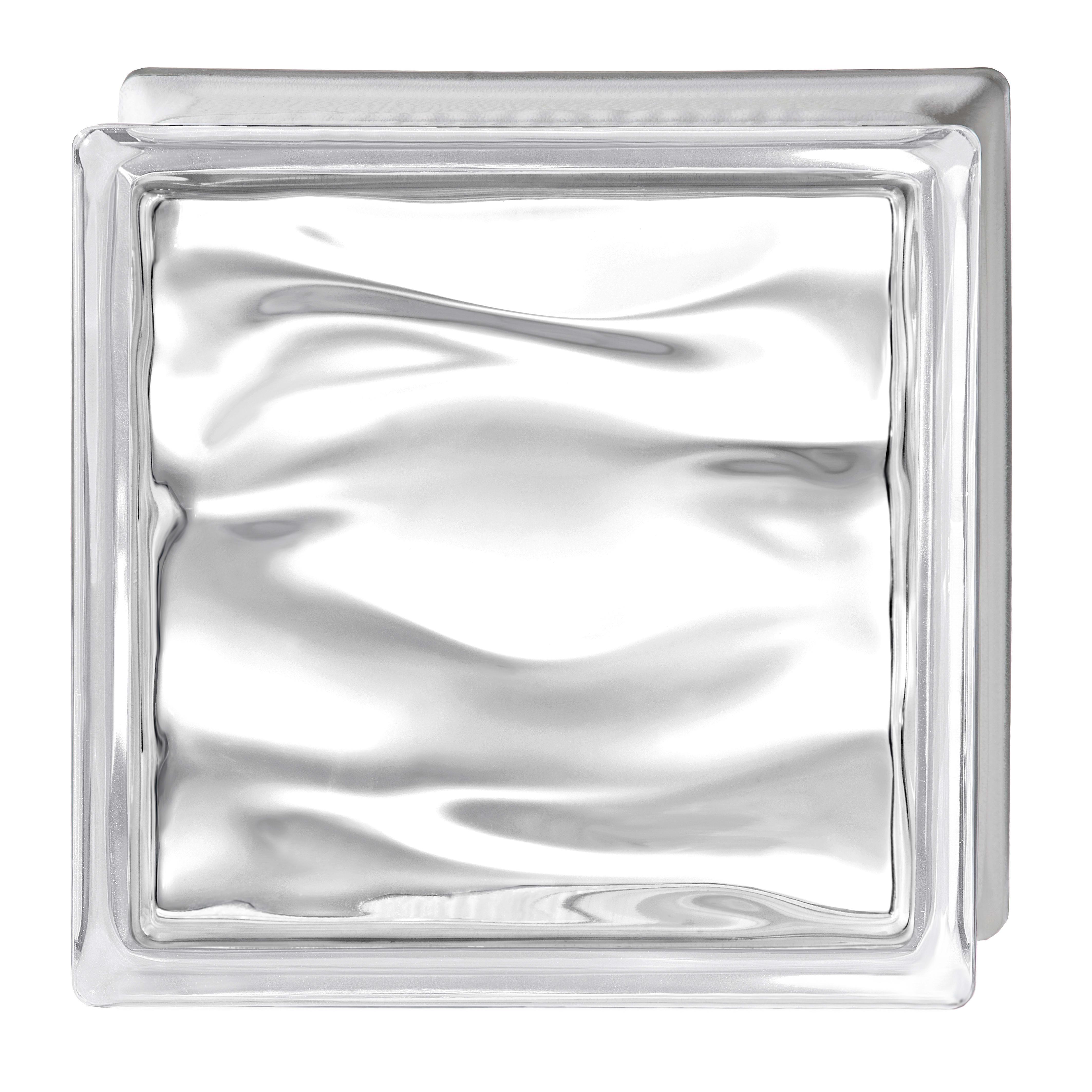 Pareti In Vetrocemento Prezzi vetromattone trasparente lucido h 19 x l 19 x sp 8 cm
