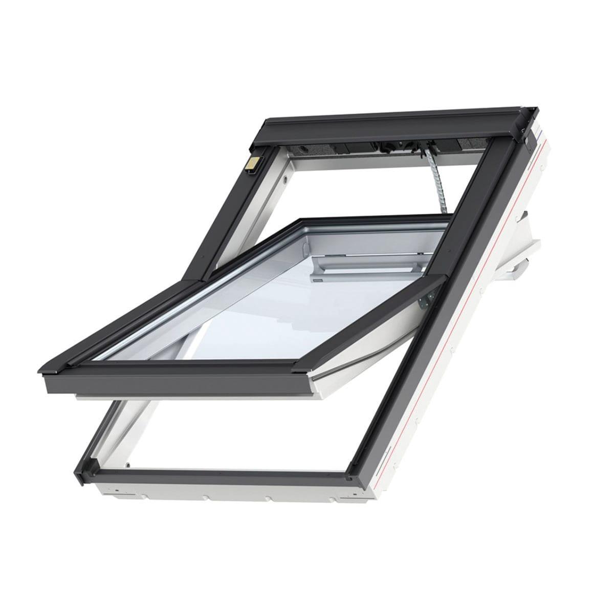 Finestra Oblò Leroy Merlin finestra da tetto (faccia inclinata) velux ggu mk08 008621 elettrico l 78 x  h 140 cm bianco