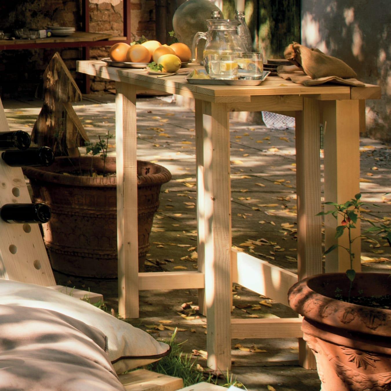 Tavolo Da Giardino Rettangolare Abete Con Piano In Legno L 50 X P 100 Cm Prezzo Online Leroy Merlin