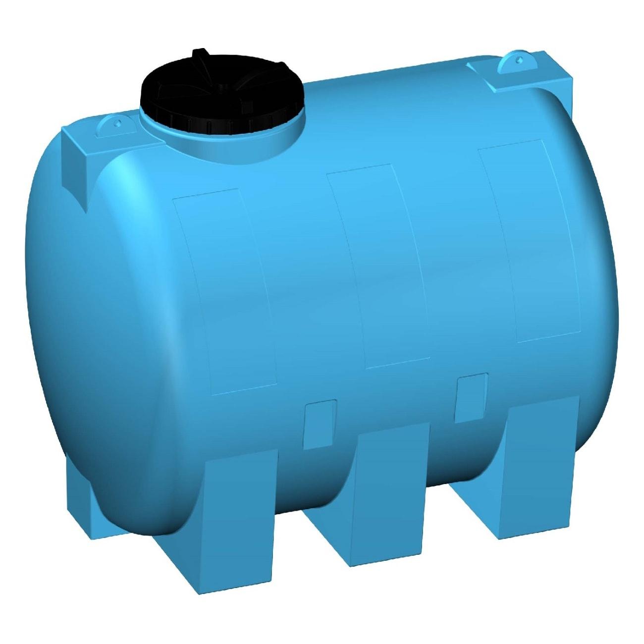 Serbatoio Orizzontale Blu 5000 L