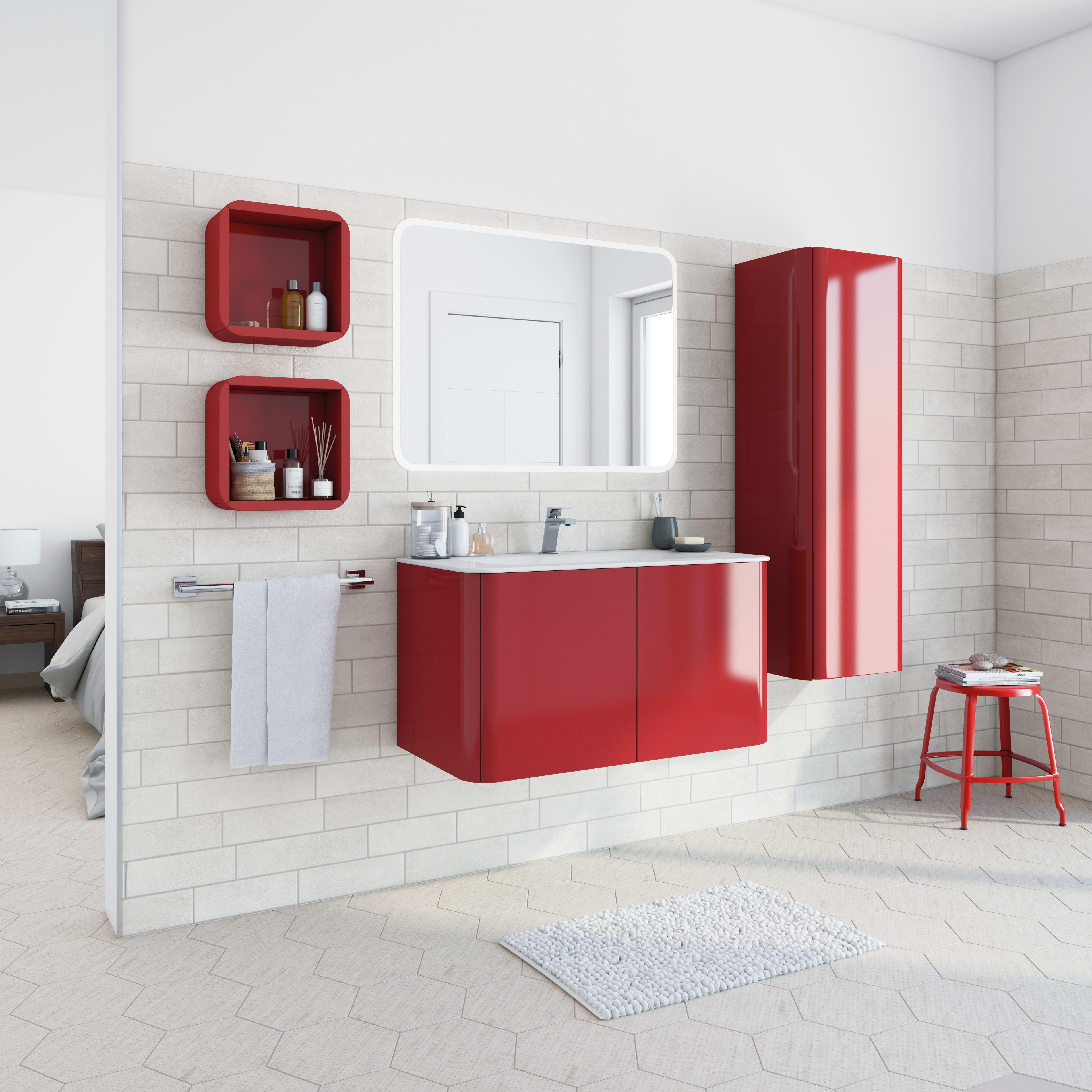 Bagni Leroy Merlin Catalogo mobile bagno liverpool rosso l 94 cm