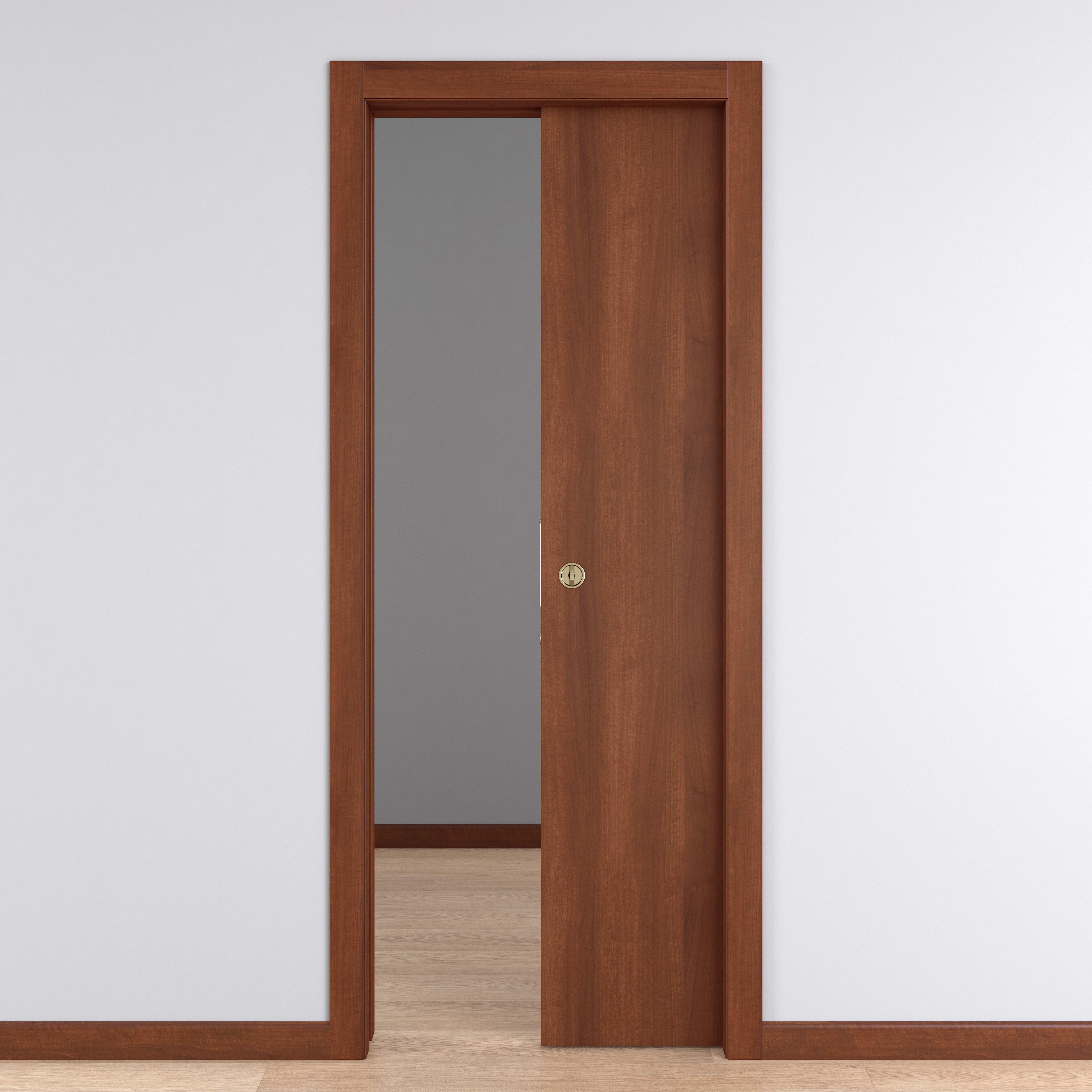 Porta Scrigno 60 Cm porta scorrevole a scomparsa schubert noce l 70 x h 210 cm reversibile