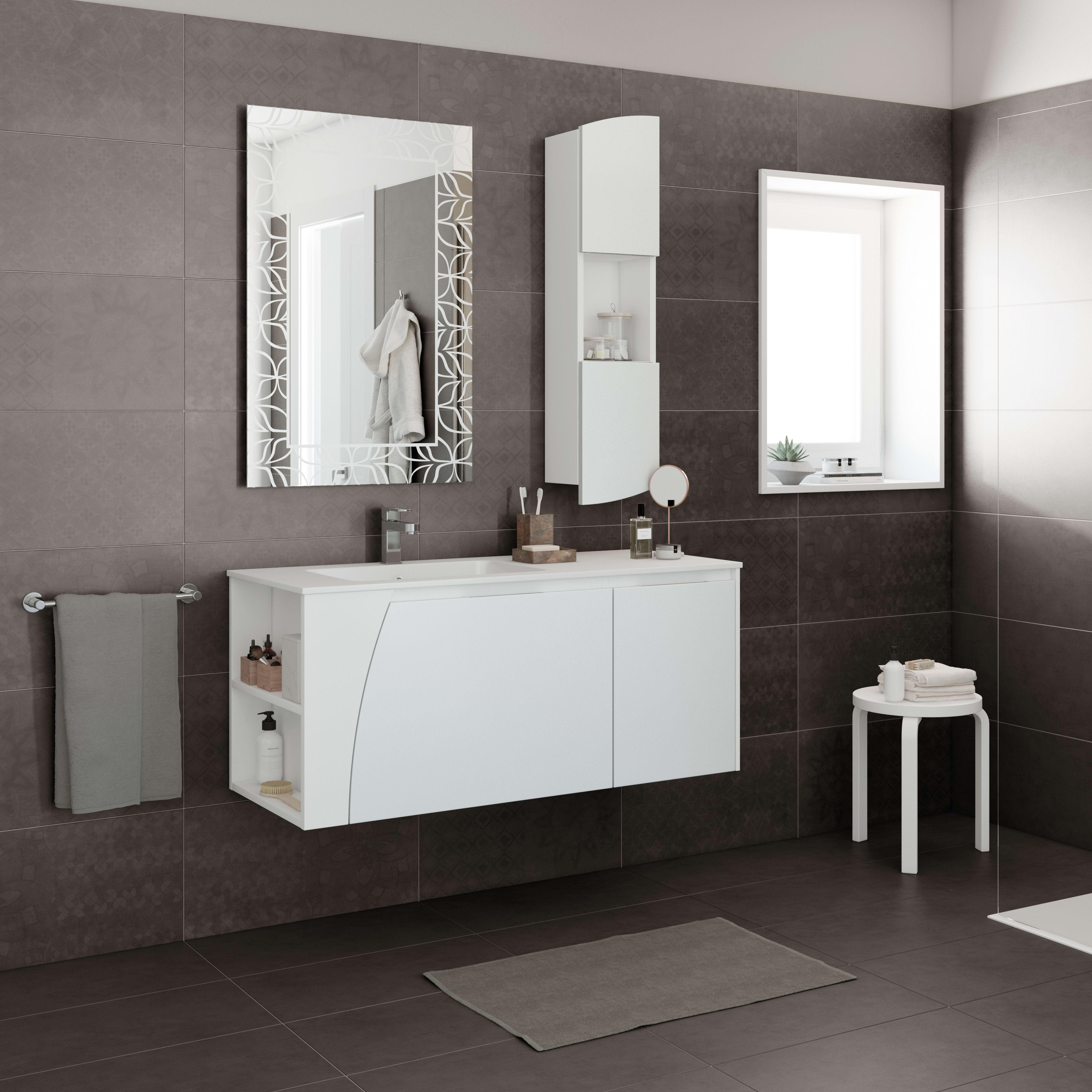 Come Pulire Il Mineralmarmo mobile bagno soft bianco l 116.5 cm