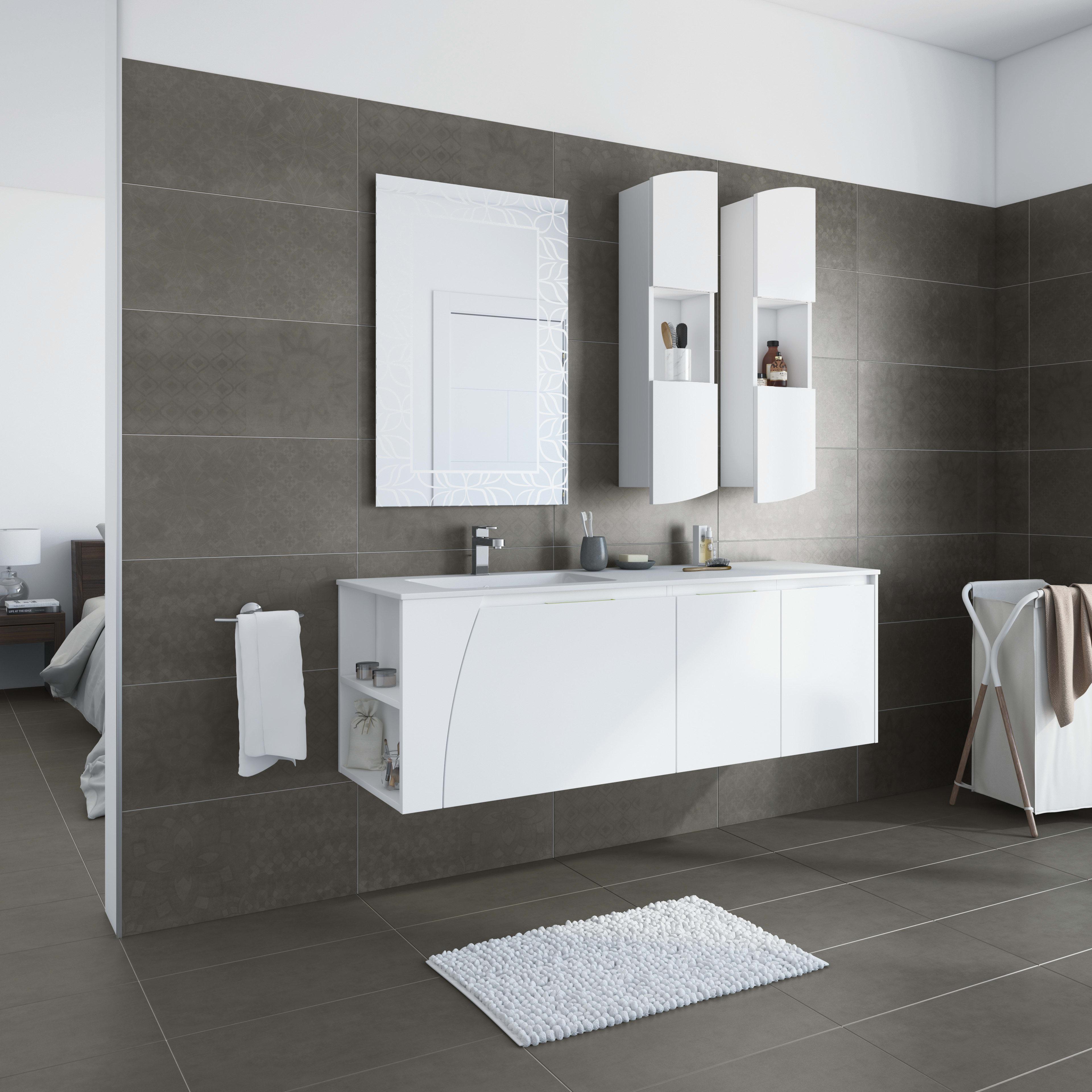 Come Pulire Il Mineralmarmo mobile bagno soft bianco l 152.5 cm