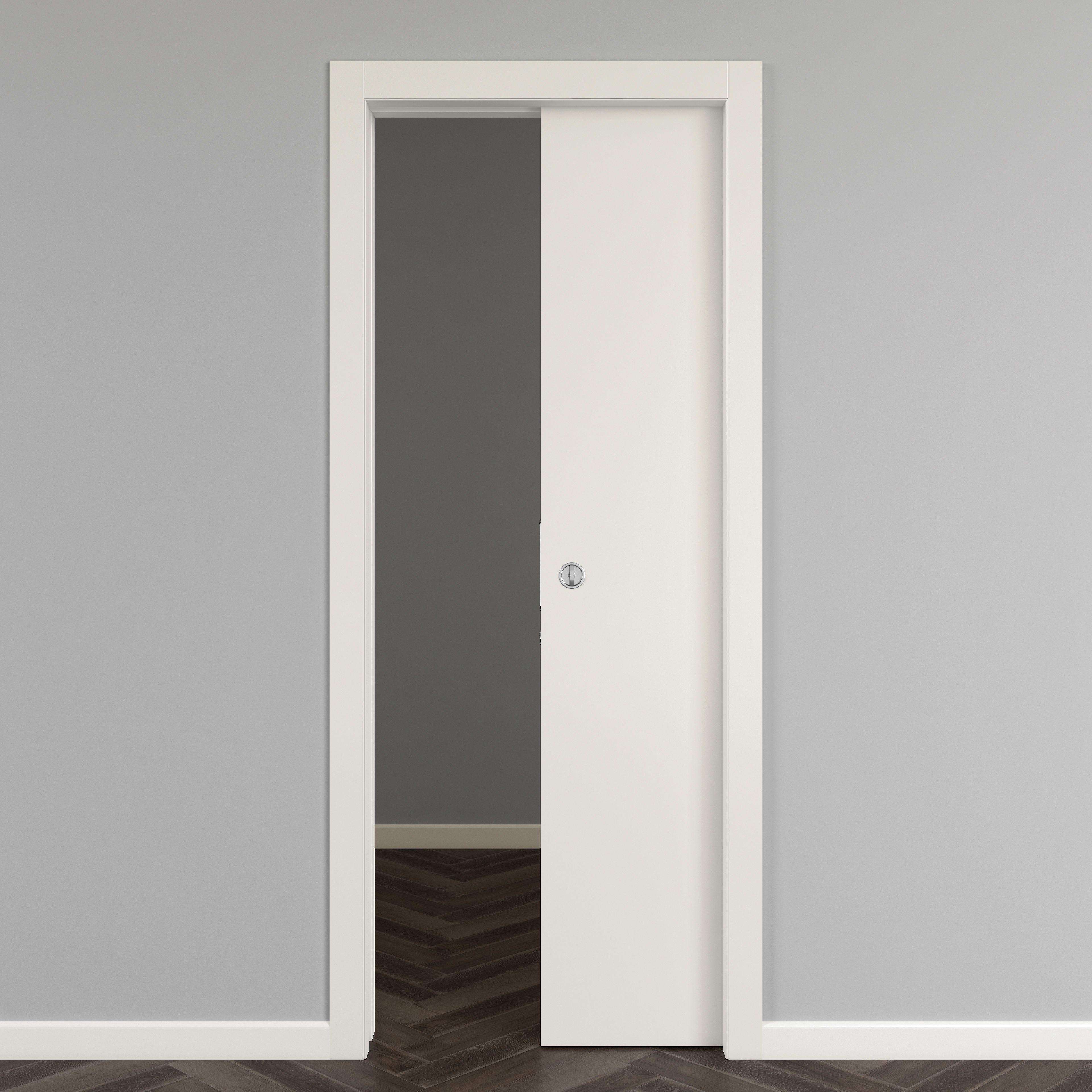 Porta Scrigno 60 Cm porta scorrevole a scomparsa strauss bianco l 60 x h 210 cm reversibile