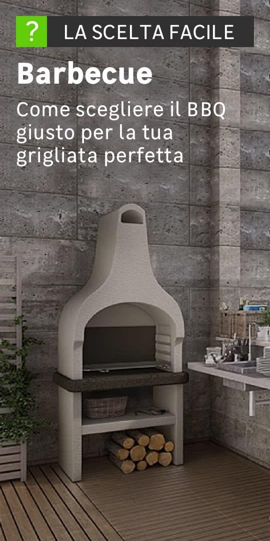 Giardino munito di piano cottura, lavandino e barbecue in pietra