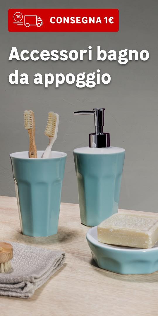 Consegna 1€ accessori bagno da appoggio