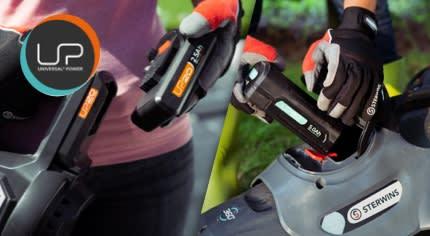 Batterie Sterwins, Lexman e Dexter per macchine da giardino
