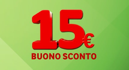 Ottieni un buono sconto da 15€