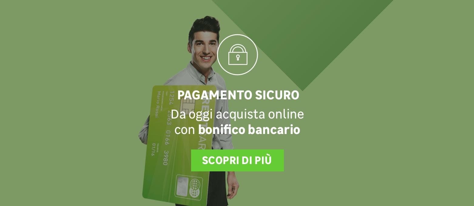 Pagamento sicuro: da oggi acquista online con bonifico bancario