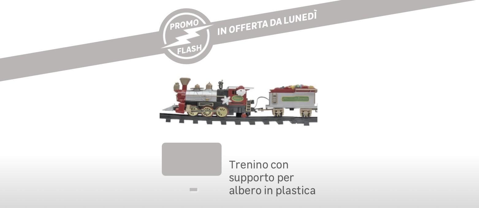 Promo Flash: trenino con supporto per albero in plastica