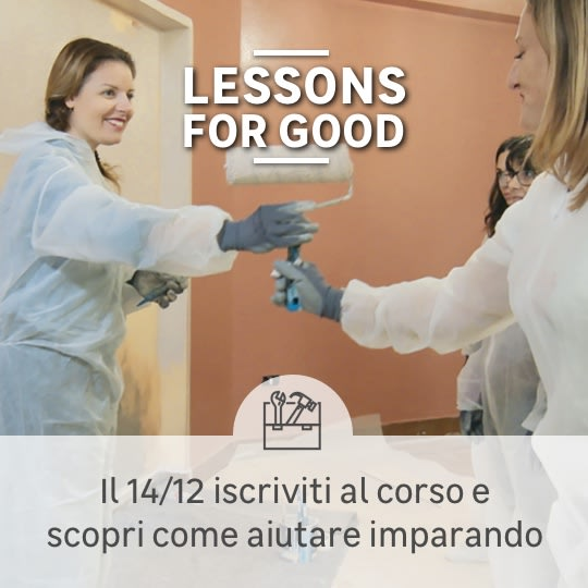 Lessons for Good: corso del 14 dicembre