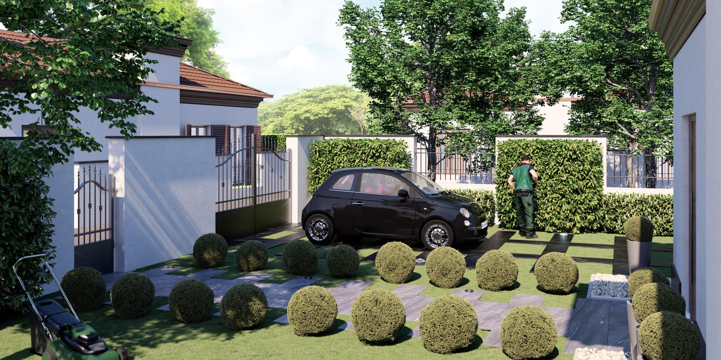 progetto giardino stile contemporaneo