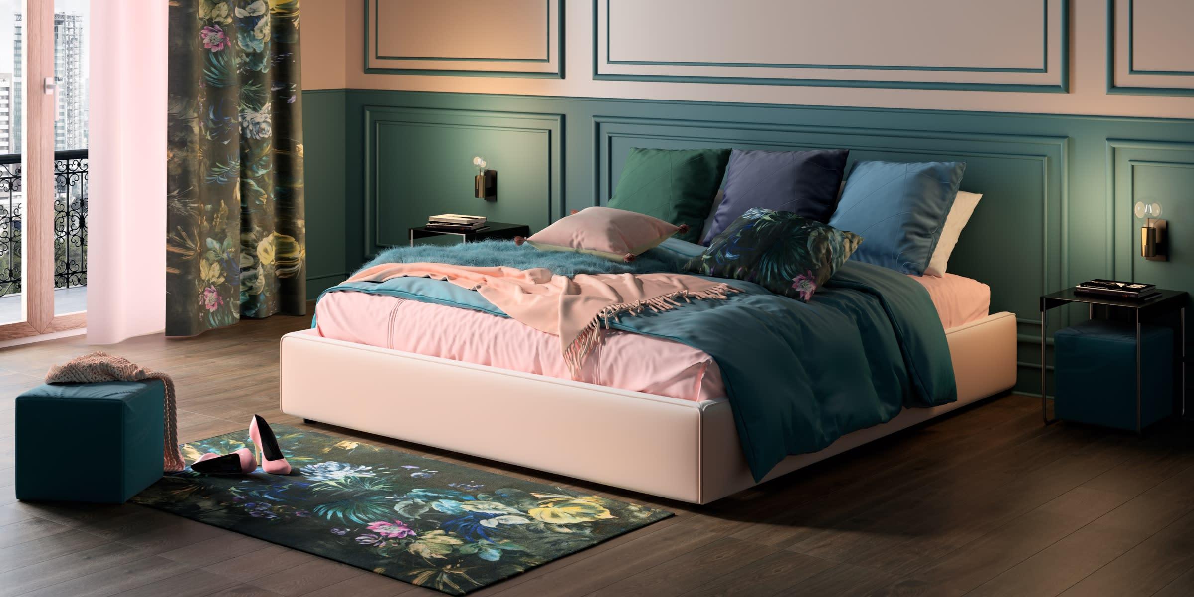 arredare camera da letto stile Glam Flower