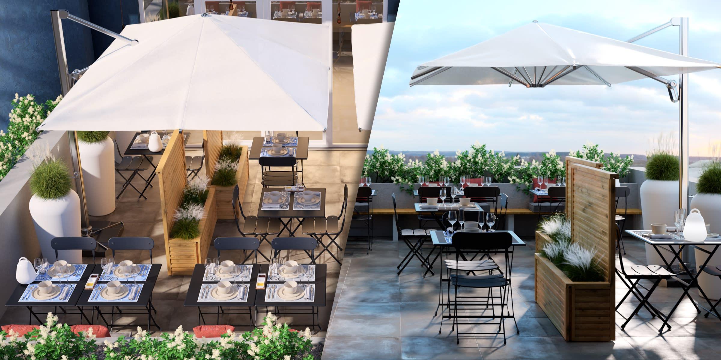 progetto arredo esterno ristorante
