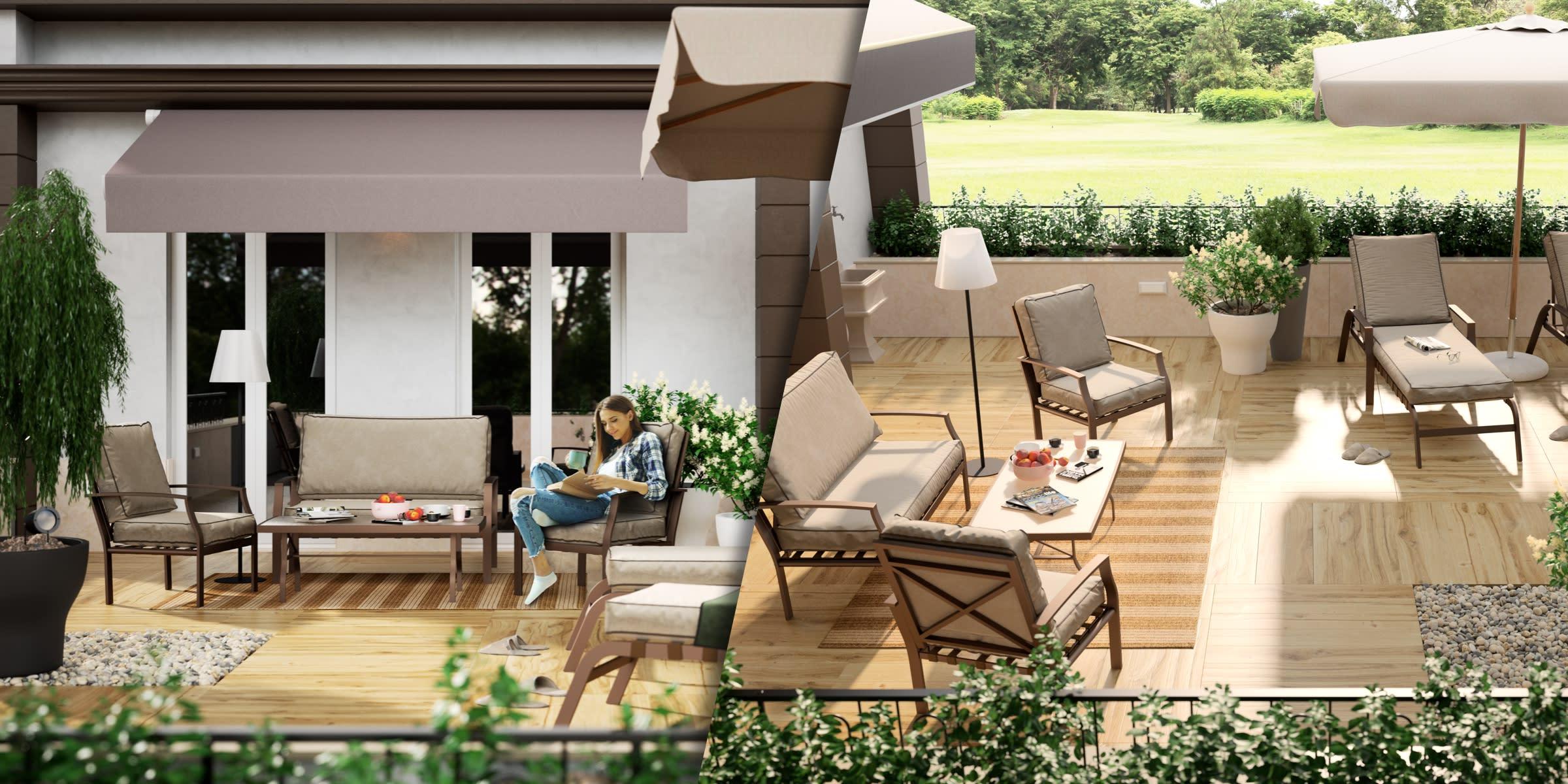 progetto terrazzo con solarium