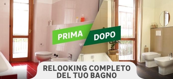 Prima e dopo relooking bagno