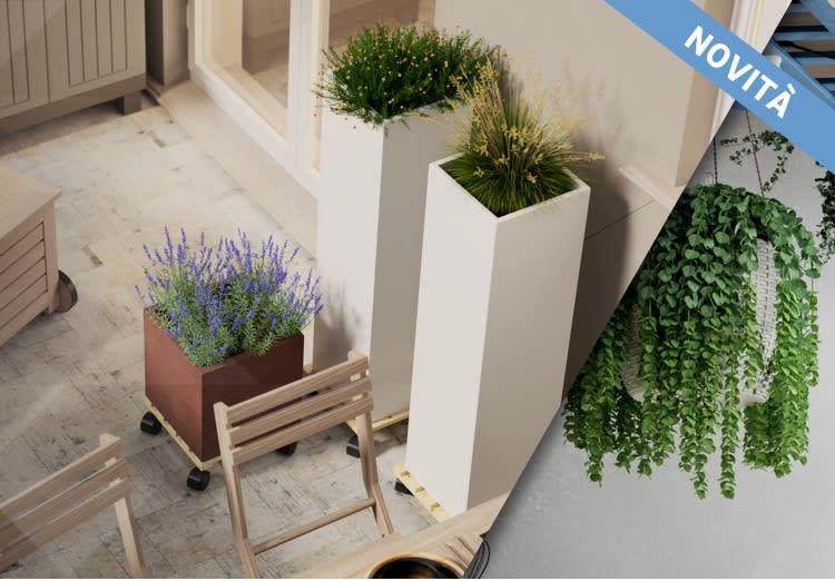 Idee e progetti giardino vasi, fioriere e portavasi