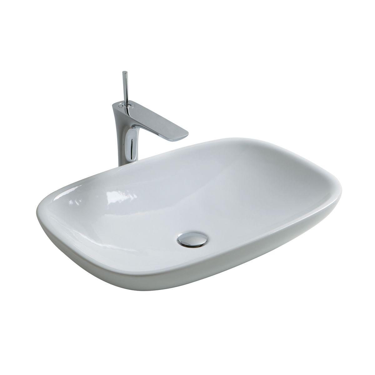 lavabo da appoggio rettangolare 40 x 12 5 cm prezzi e offerte online. Black Bedroom Furniture Sets. Home Design Ideas