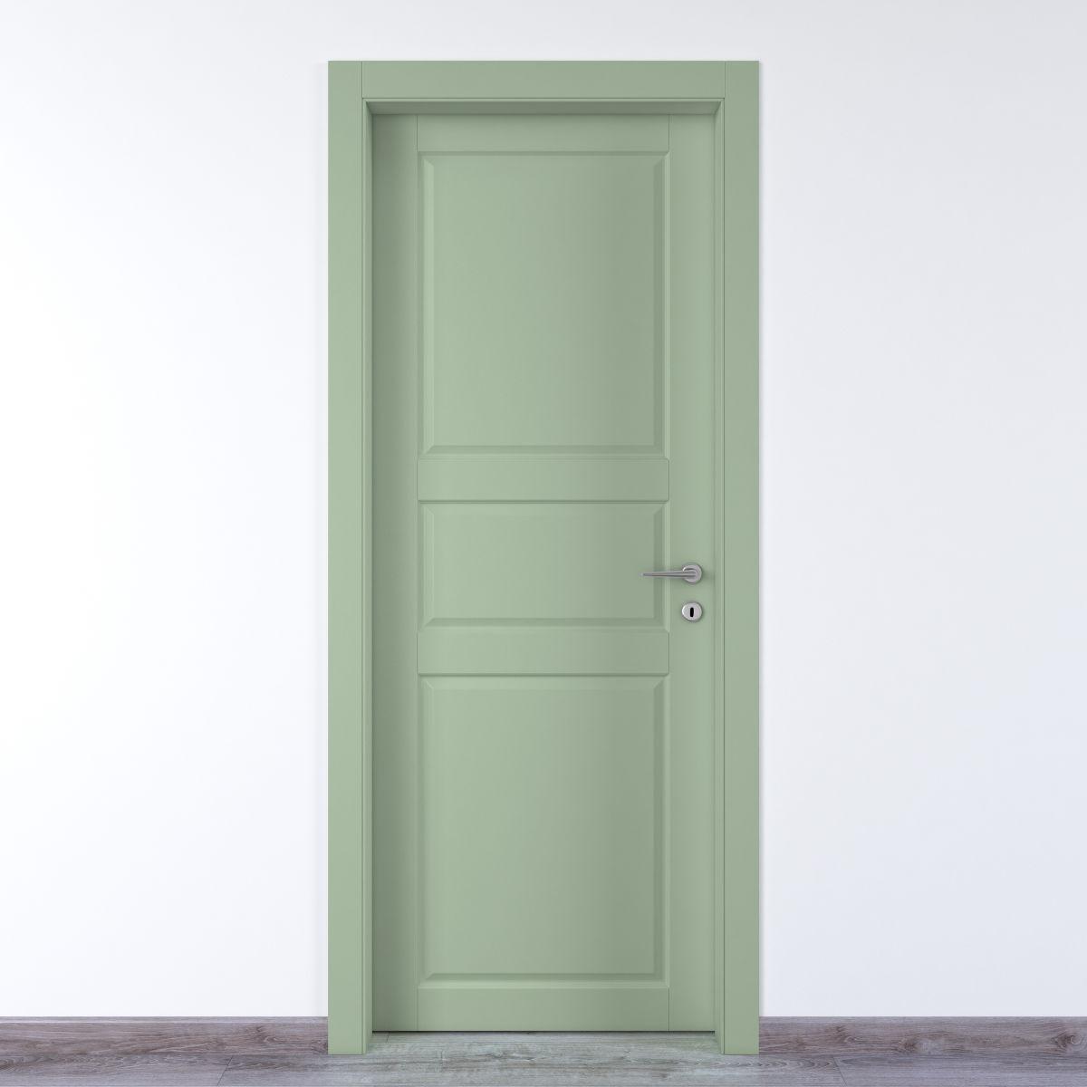 Porta da interno battente new york verde 80 x h 210 cm sx for Copriwater leroy merlin