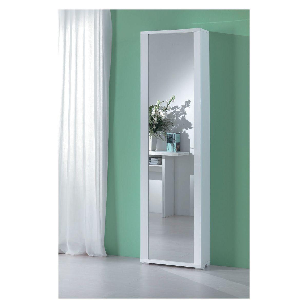 Scarpiera 1 anta a battente specchio bianco prezzi e for Scarpiera specchio leroy merlin