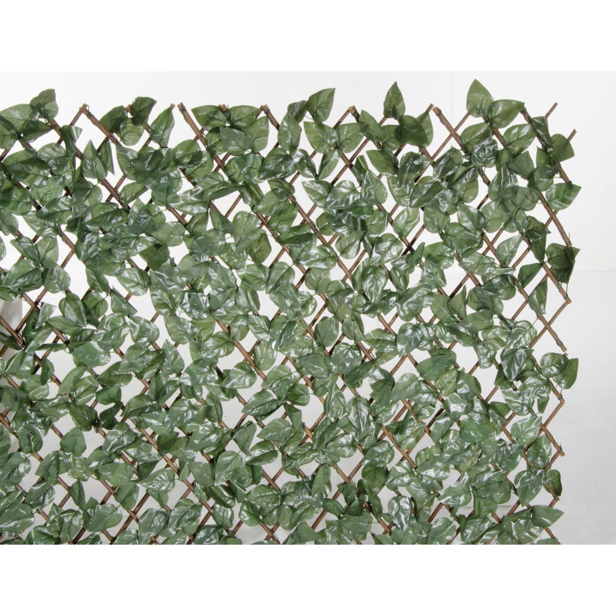 Rete con foglie per balconi giardino e naterial verde l x for Siepe finta ikea