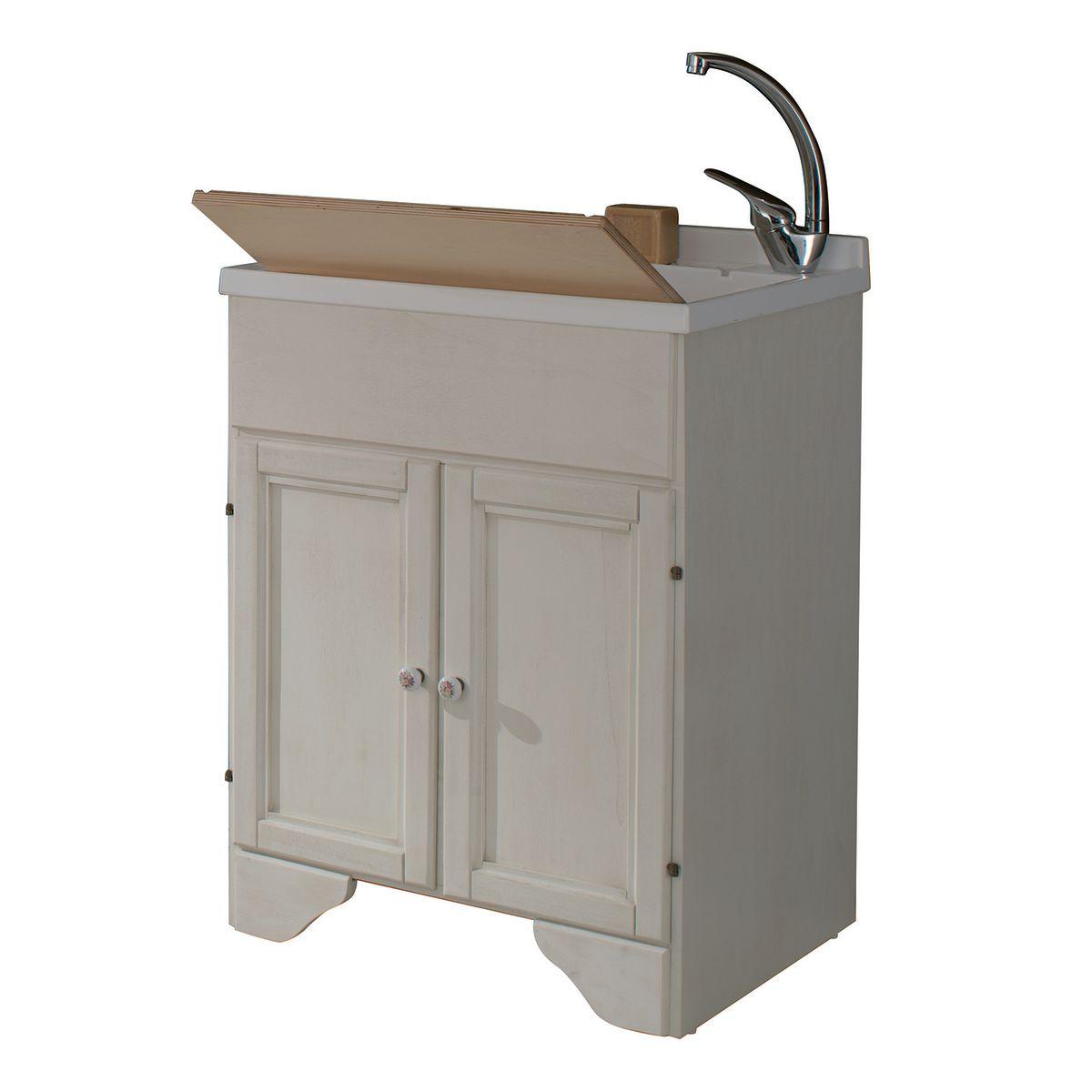 Mobile lavatoio bianco l 60 x p 50 x h 84 cm prezzi e for Tralicci leroy merlin