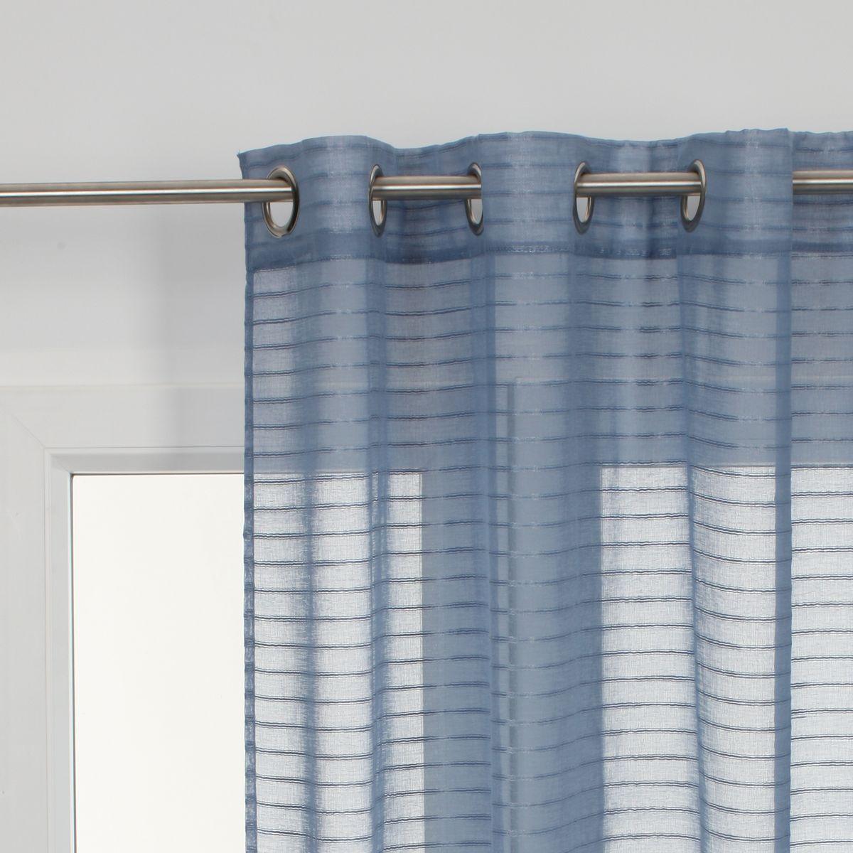 Tenda righe orizzontali azzurro 140 x 280 cm prezzi e for Tralicci leroy merlin