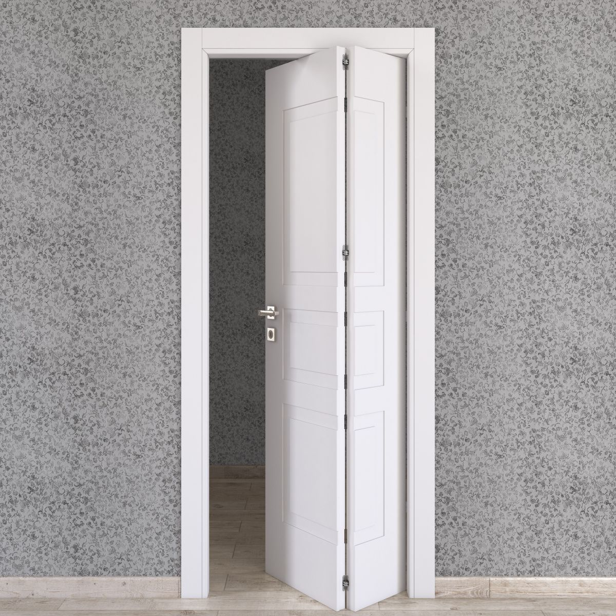 Porta da interno pieghevole asimmetrica alioth bianco 80 x for Porte soffietto leroy merlin