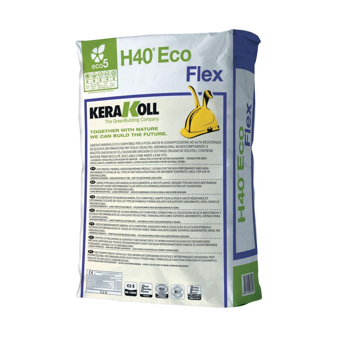 Kerakoll h40 colla in polvere flex c2 grigio 25 kg - Colla per piastrelle kerakoll ...
