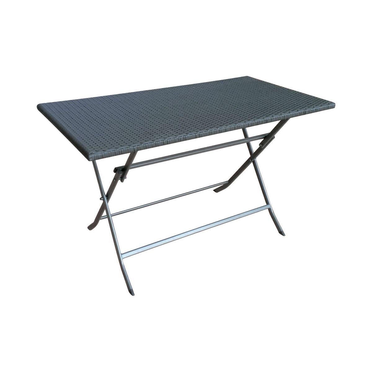 Tavolo pieghevole 120 x 60 cm antracite prezzi e offerte for Tavoli da esterno leroy merlin