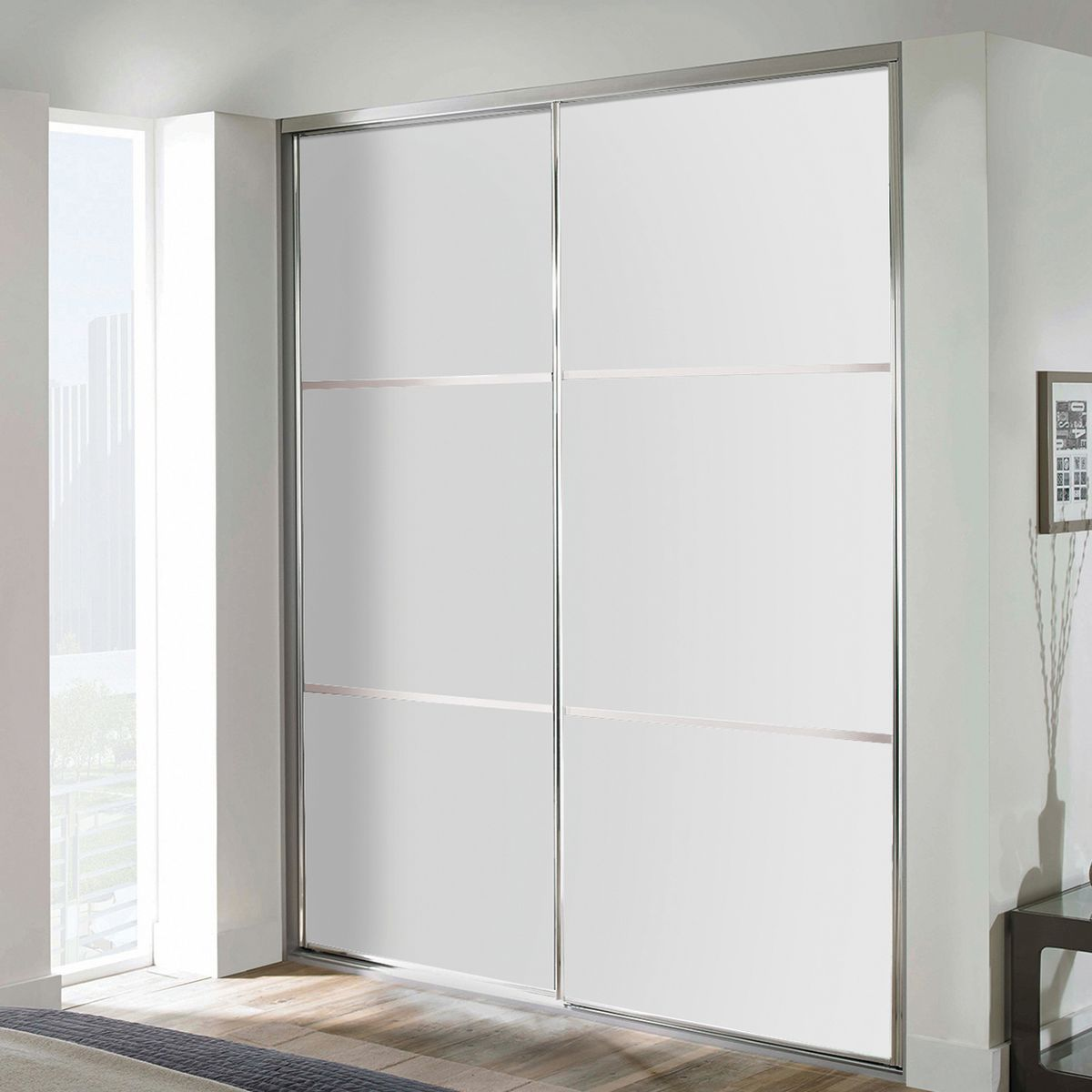Kit 2 ante Washington bianco L 120 x H 270 cm: prezzi e offerte online