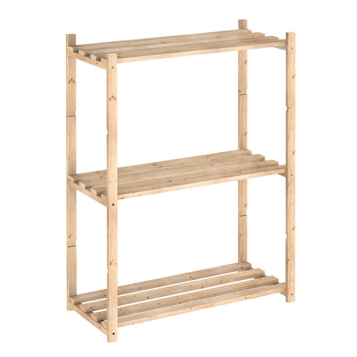 Scaffali in legno grezzo: prezzi e offerte online per scaffali in ...