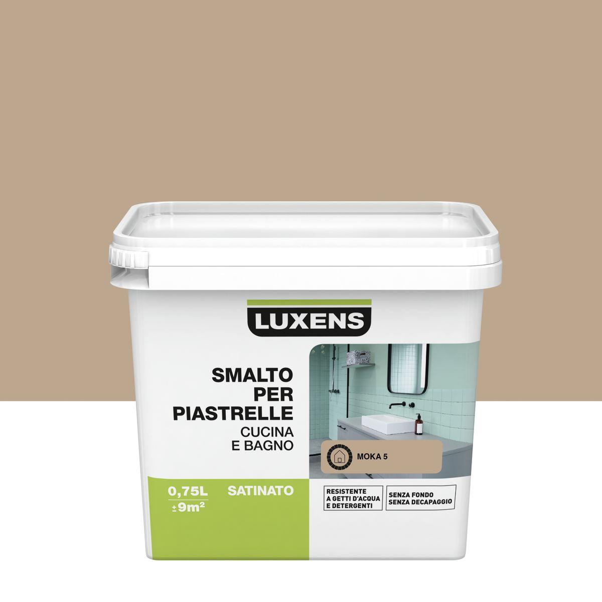 Smalto Per piastrelle Luxens Marrone Moka 5 satinato 0,75 L: prezzi ...