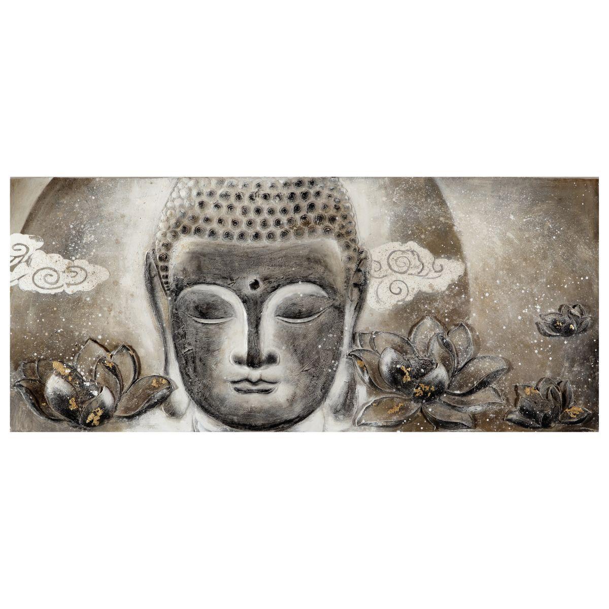 Quadro dipinto a mano buddha 65x150 prezzi e offerte online for Quadri cucina leroy merlin