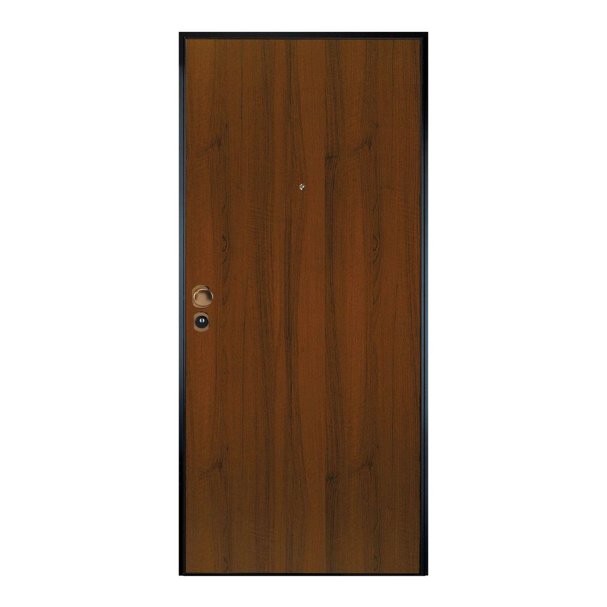 Porta blindata Maxima noce L 90 x H 210 cm dx: prezzi e offerte online
