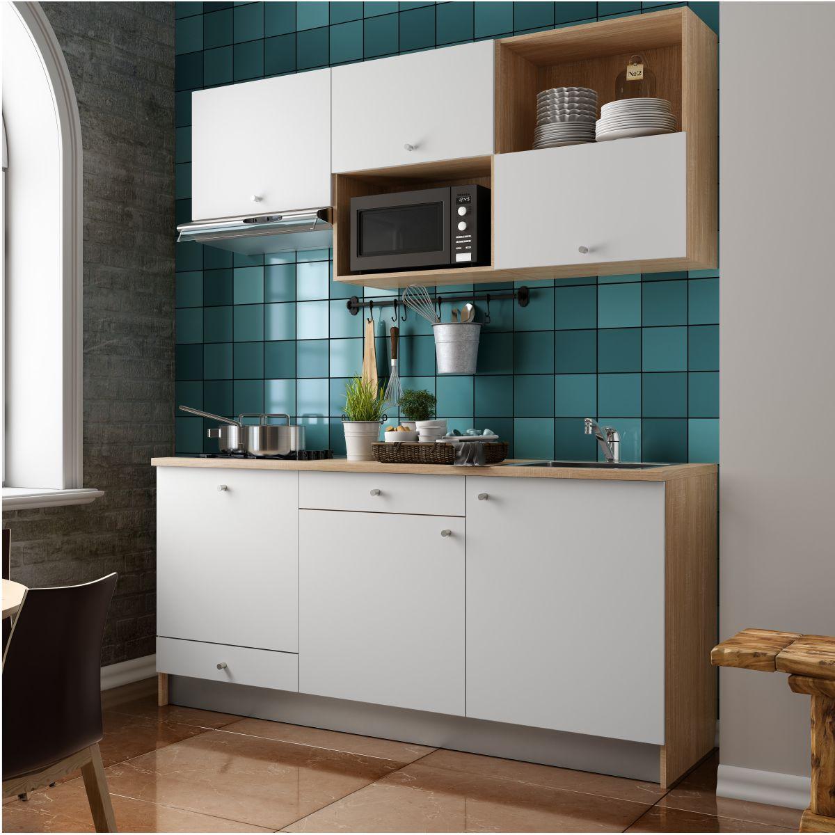 Cucina lineare 3 metri senza frigo cucina moderna lineare - Cucine componibili senza frigo ...