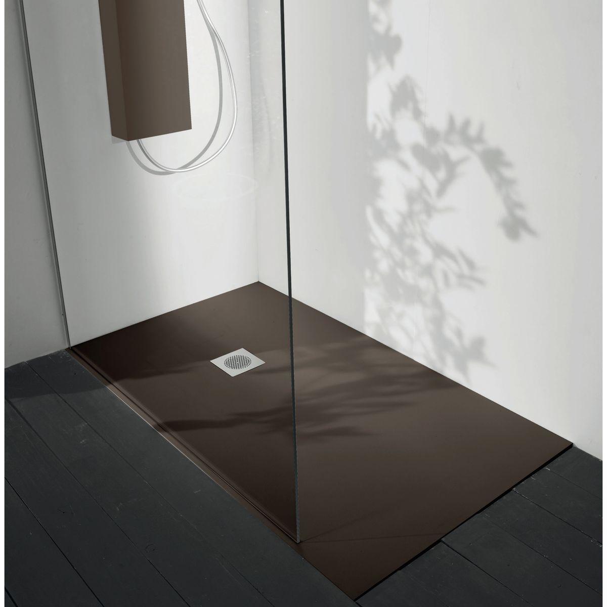Bagnopiatto doccia acrilico boston x cm moka with piatto - Piatto doccia filo pavimento opinioni ...
