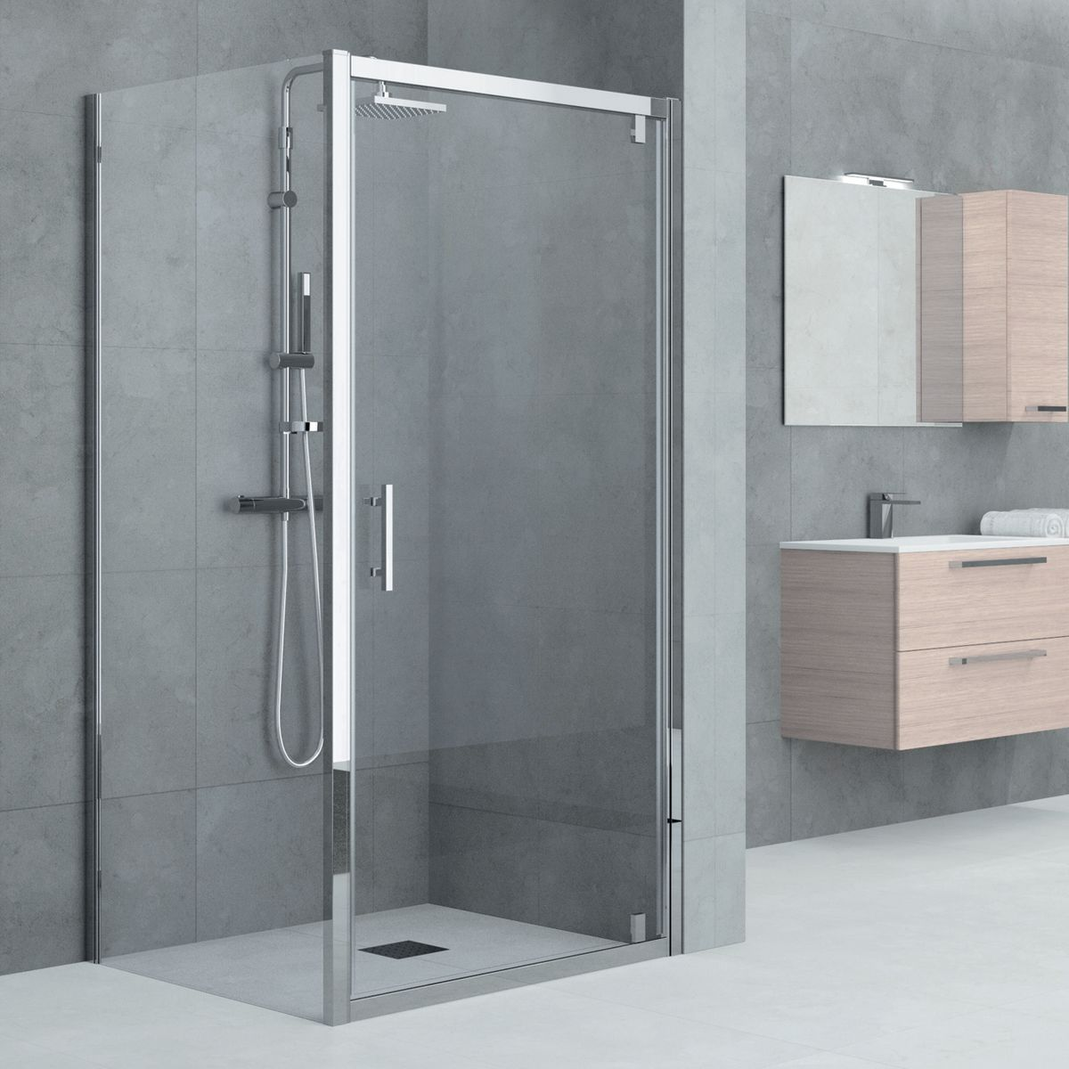 Vasca e doccia combinate beautiful vasca relax with vasca for Porta doccia leroy merlin