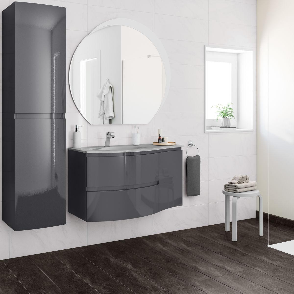 Mobile bagno vague grigio antracite l 104 cm prezzi e - Ventole aspiranti per bagno ...