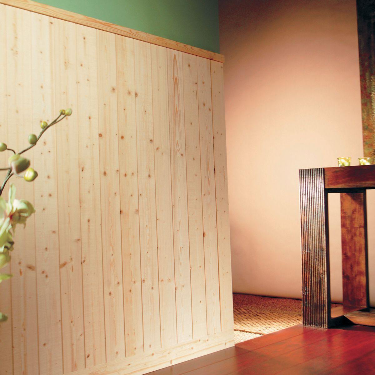 Doghettato in legno per pareti simple doghe in legno per for Pannelli boiserie leroy merlin