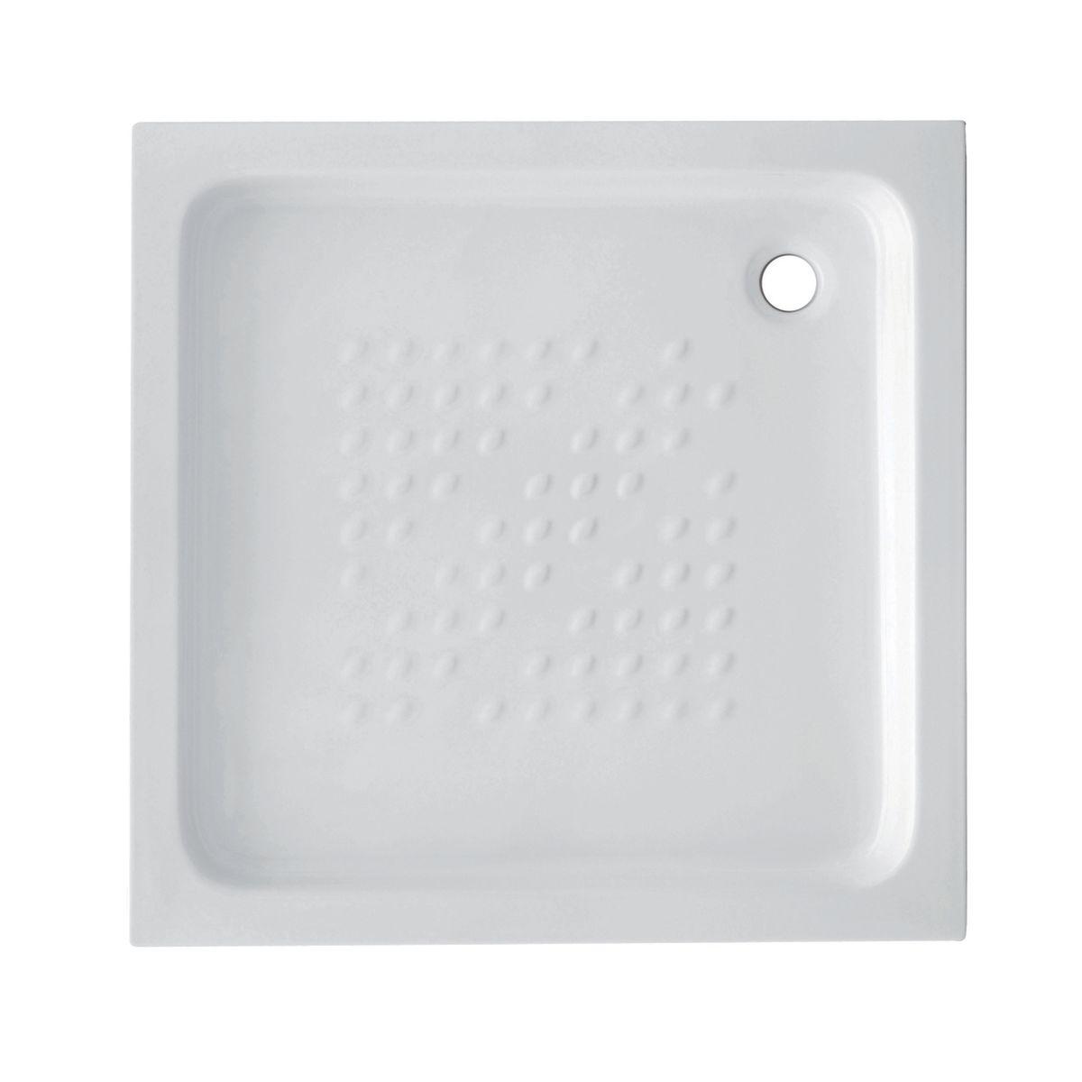 Piatto doccia ceramica quadro 70 x 70 cm bianco prezzi e for Tralicci leroy merlin