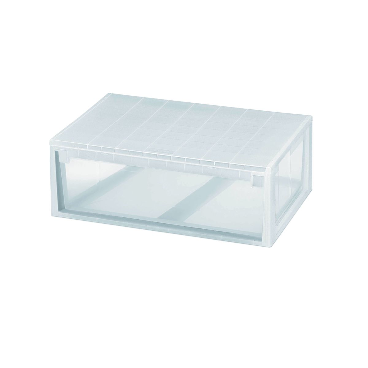 Top ordine e light drawer xl trasparente with scatole di for Leroy merlin scatole