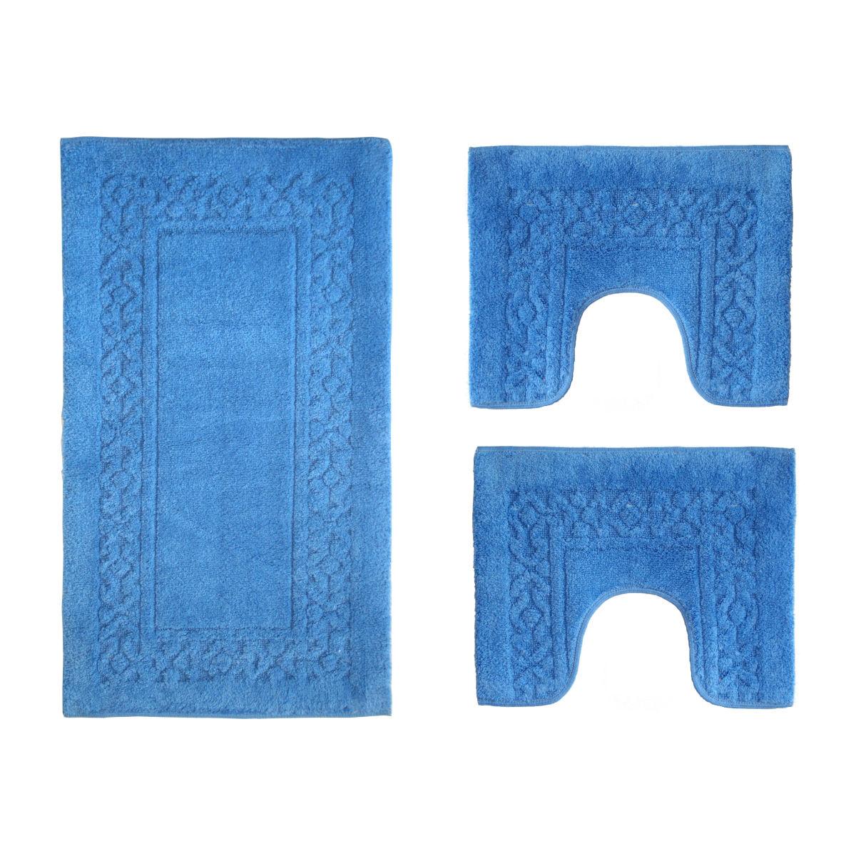 Set tappeti bagno Ischia azzurro: prezzi e offerte online