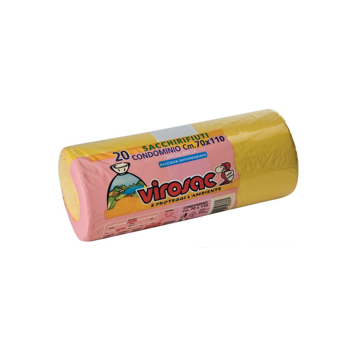 Sacco rifiuti rotolo condominio 110 x 70 cm giallo 20 for Erba a rotoli leroy merlin