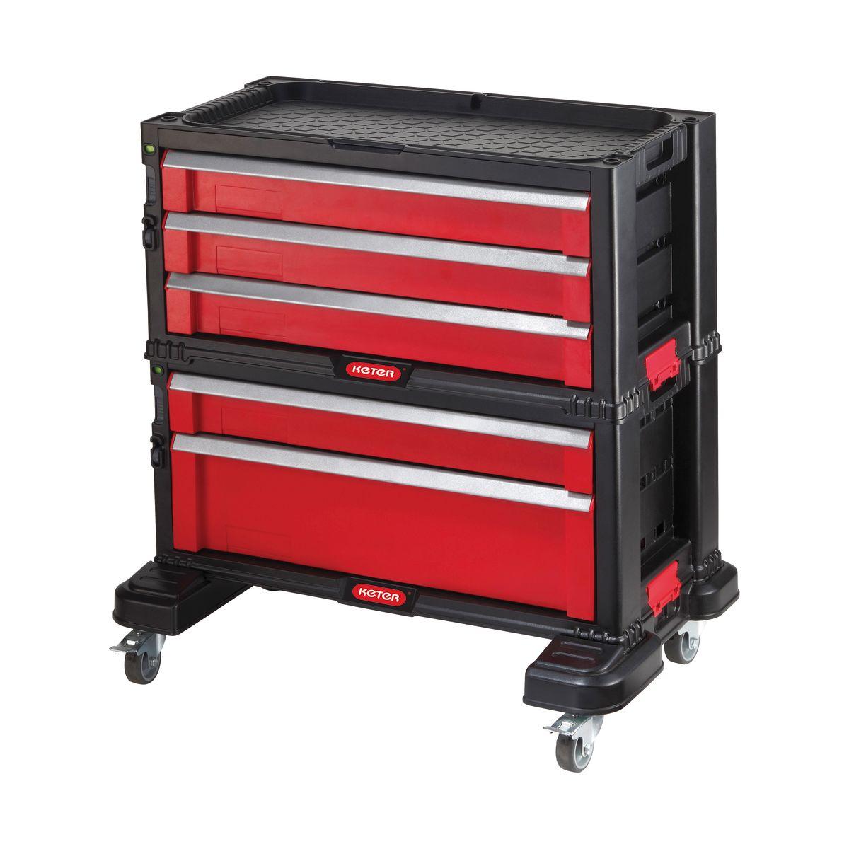 Cassettiera componibile 5 cassetti con ruote keter prezzi e offerte online - Cassettiera interna armadio leroy merlin ...