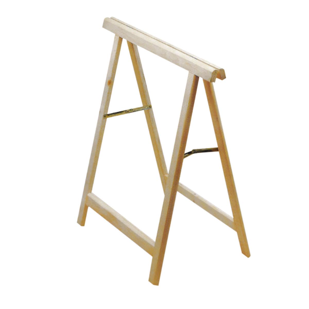 Cavalletto pino Standard H 75 x P 73,5 x L 38 cm grezzo: prezzi e ...