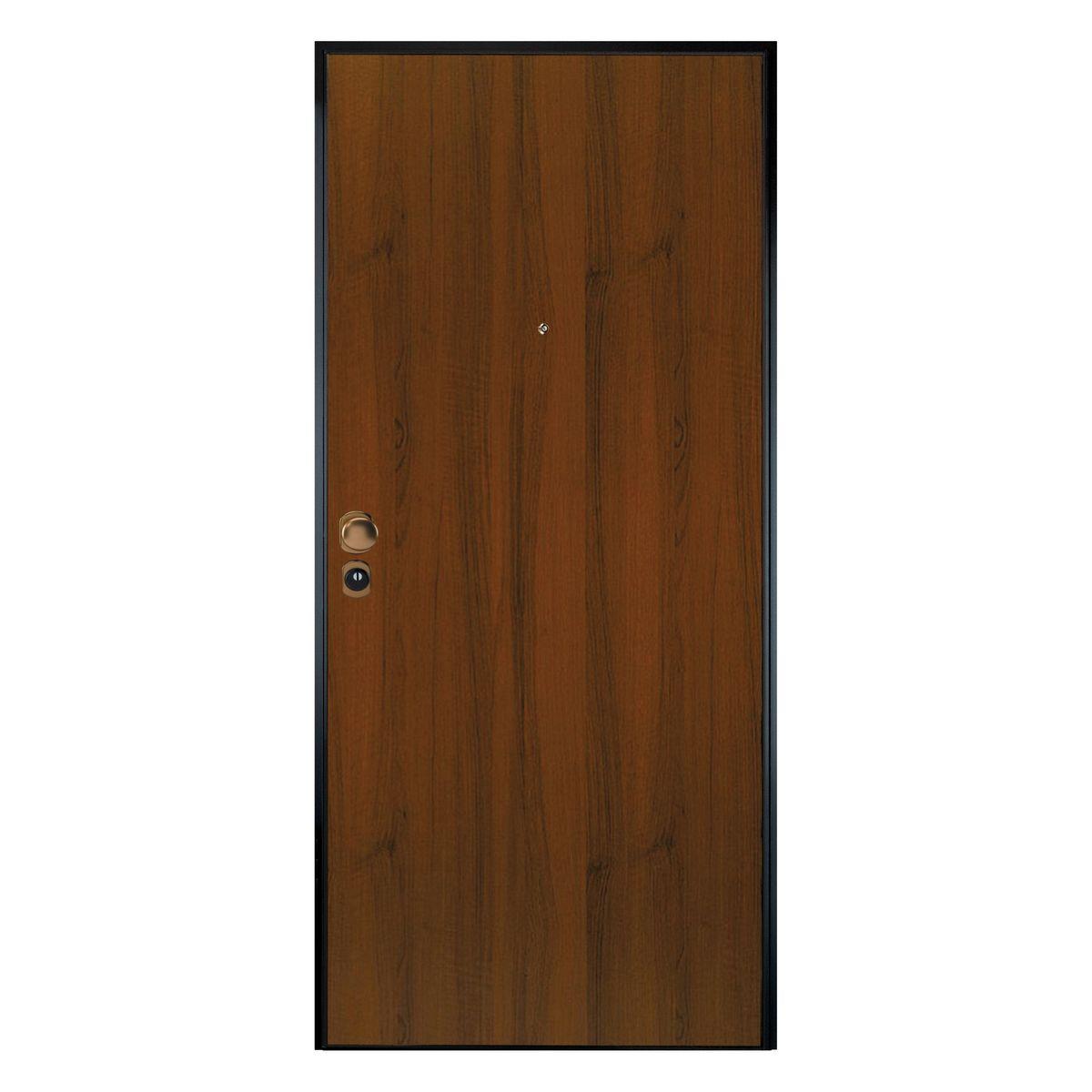 Porta blindata leopard noce l 90 x h 200 cm sx prezzi e for Paravento leroy merlin