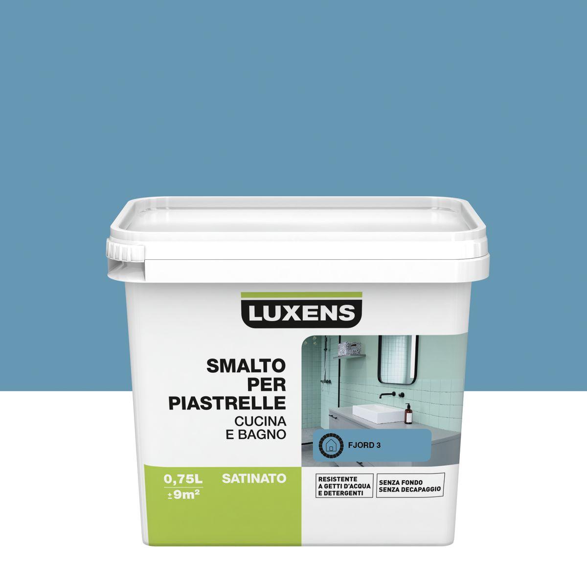 Smalto Per piastrelle Luxens Blu Fjord 3 satinato 0,75 L: prezzi e ...